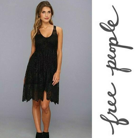 Free People Dresses & Skirts - FREE PEOPLE   Kristal Lace Salinas foil dress